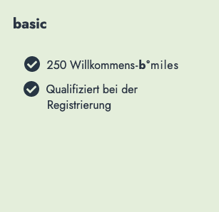 bonusmiles Basic Status-Level - Vorteile