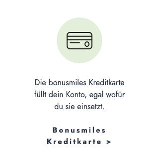 Bonusmiles Kreditkarte | Punkte Konto füllen - egal wo man sie einsetzt