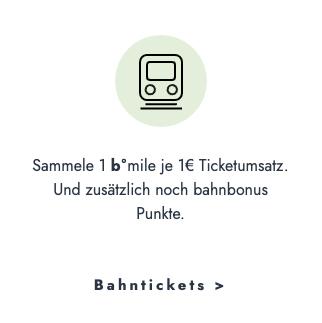 Bahnticket buchen - b°miles und zusätzlich bahnbonus Punkte sammeln | Deutsche Bahn