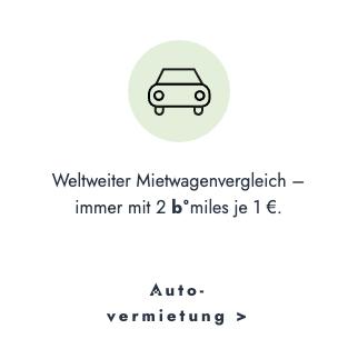Weltweiter Mietwagenvergleich | Mietwagen buchen und b!miles sammeln