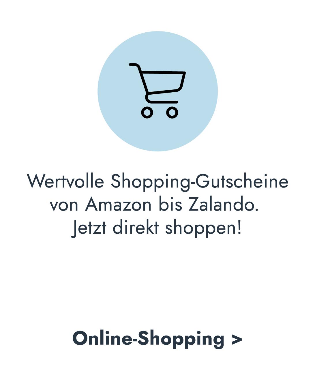Wertvolle Shopping-Gutscheine - Meilen sammeln und einlösen - Amazon oder Zalando