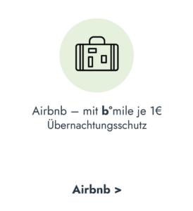 b°miles bei Airbnb Übernachtungsschutz