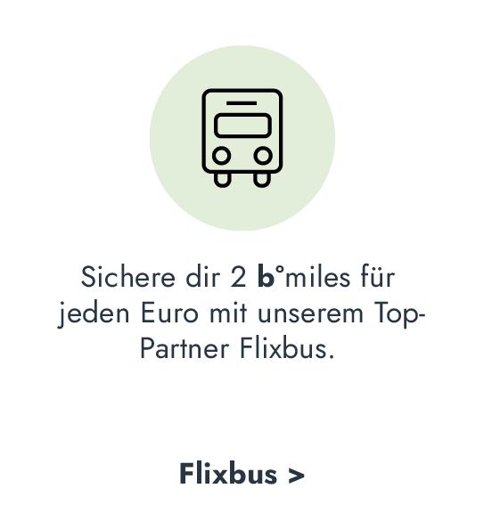 b°miles bei bonusmiles Top-Partner Flixbus