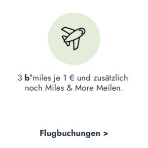 b°miles bei Flugbuchungen + zusätzlich Miles & More Meilen