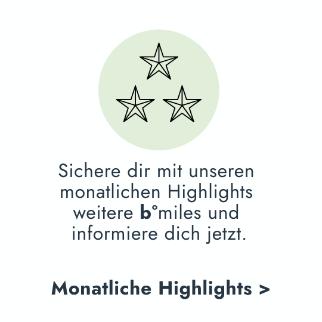 bonusmiles b°miles monatliche Highlights