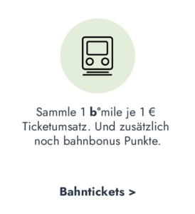 b°miles und zusätzliche bahnbonus Punkte für Zugtickets sammeln