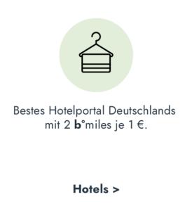 Deutschlands bestes Hotelportal - b°miles sammeln